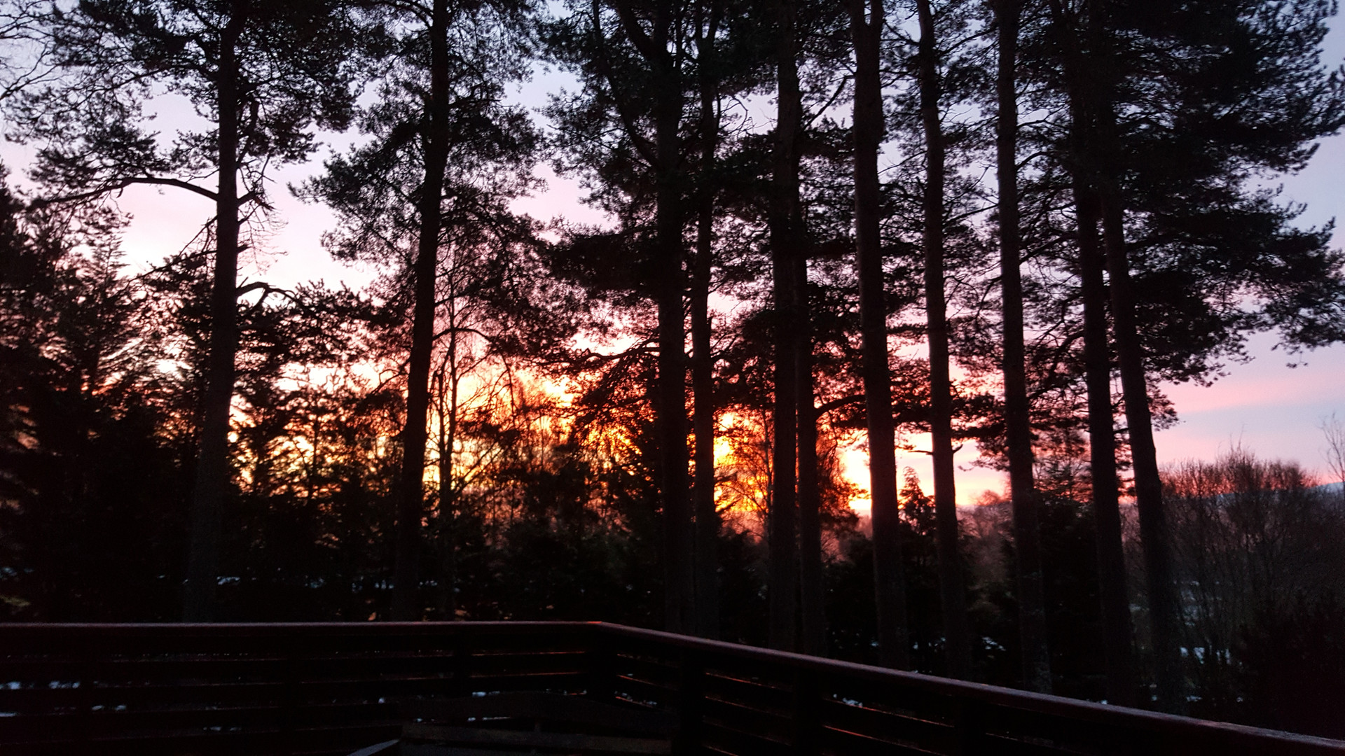 Sunrise as seen from the deck