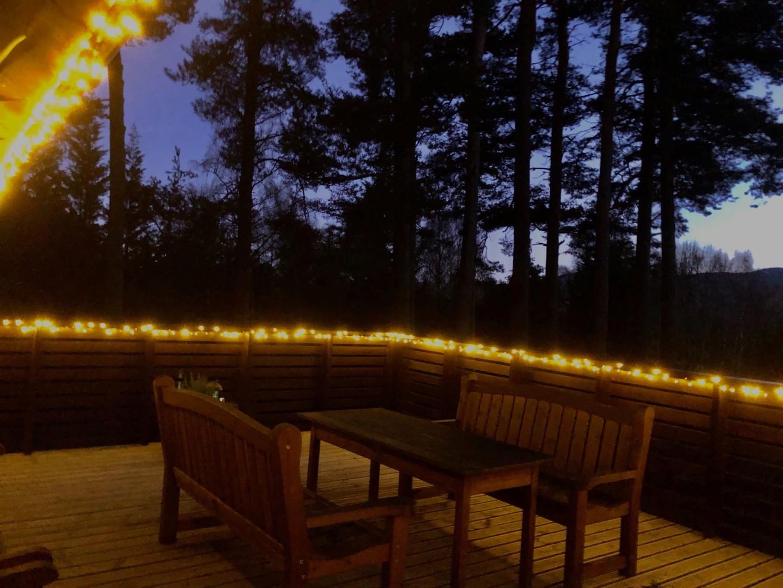Xmas lights on the deck