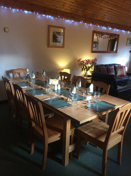 Table set for Xmas lunch