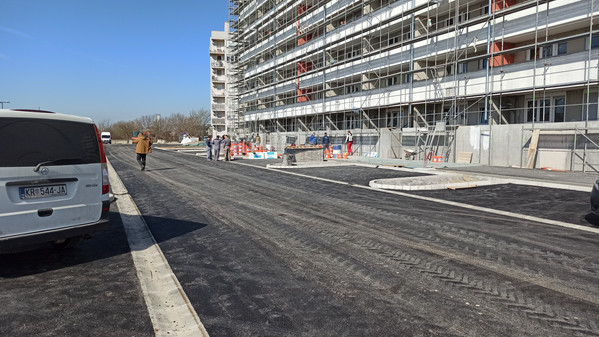 Izgradnja prometnice, Zagreb