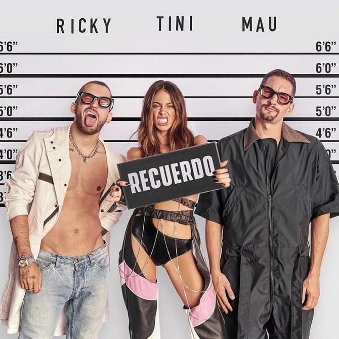 Así suena 'Recuerdo' de Tini junto a Mau & Ricky