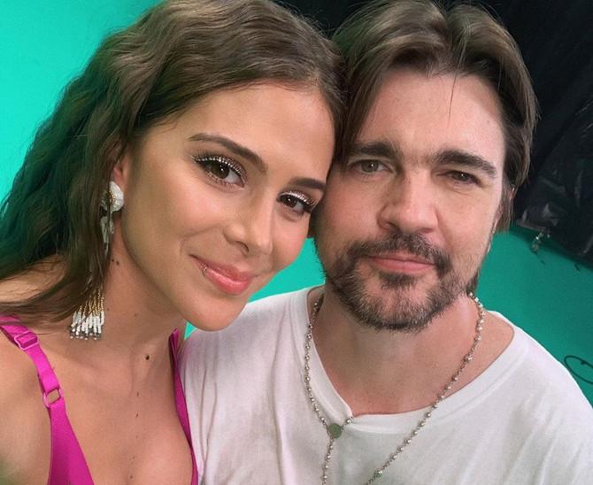 Greeicy junto a Juanes