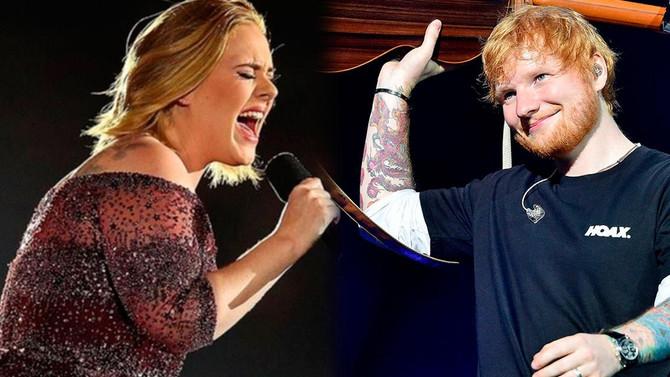 Adele y Ed Sheeran en lo más alto de las listas, otra vez