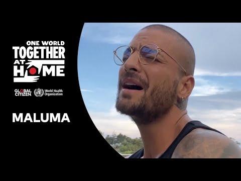 Reviví la presentación de Maluma en el 'One World: Together at Home'