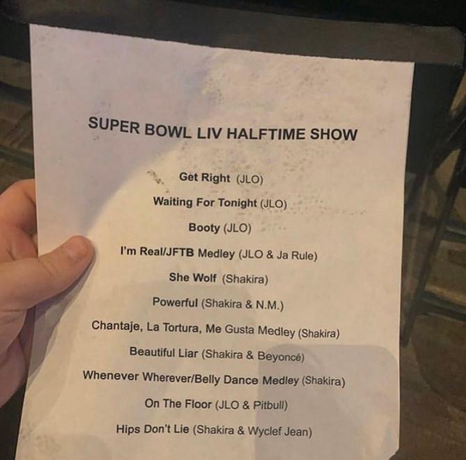 Super Bowl: se filtraron los nombres de las canciones que cantarán Shakira y Jennifer Lopez