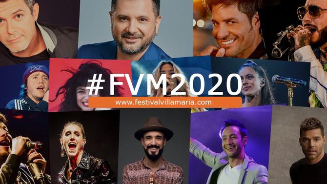 Mirá la grilla de los artistas invitados del Festival Peñas de Villa María 2020