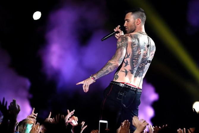 Mirá el medio tiempo del Super Bowl con Maroon 5