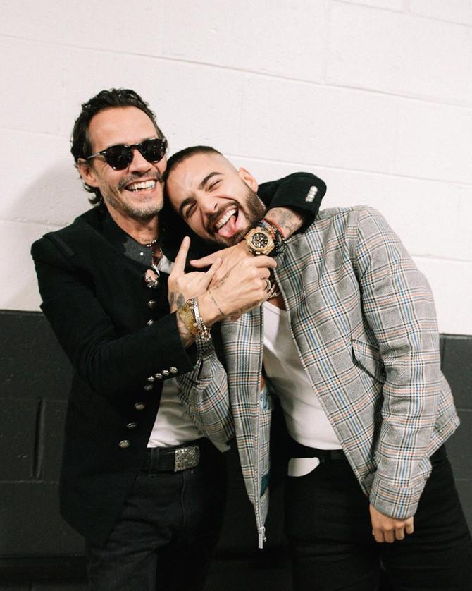 Maluma fue sorpresa en el show de Marc Anthony