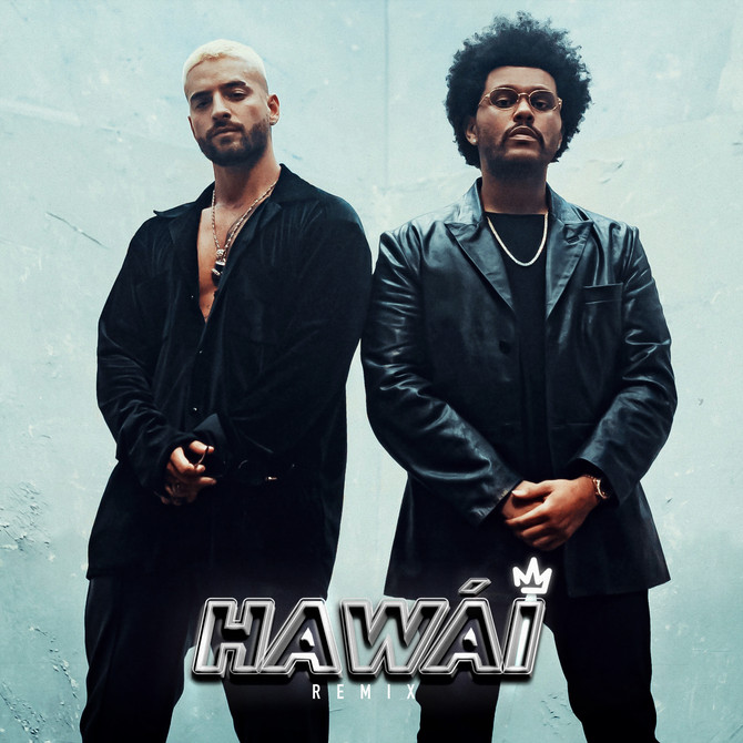 Maluma y The Weeknd se juntan en el remix de 'Hawái'
