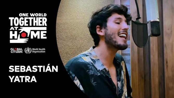 Así fue la presentación de Sebastián Yatra en el 'One World: Together at Home'