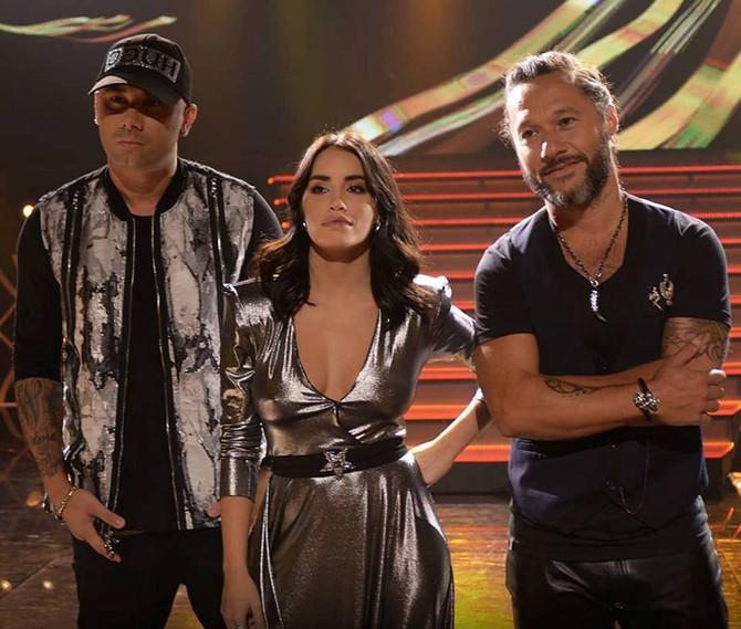 Diego Torres junto a Lali Esposito y Wisin