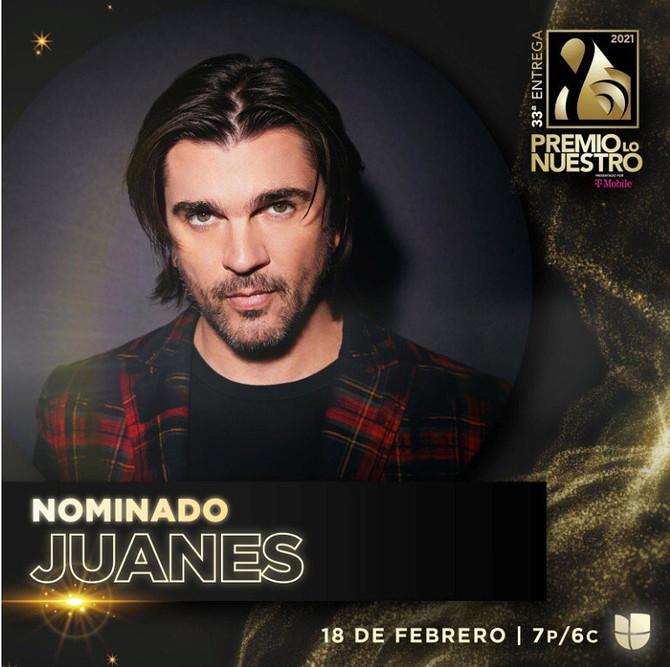 Juanes recibe seis nominaciones a premio Lo Nuestro