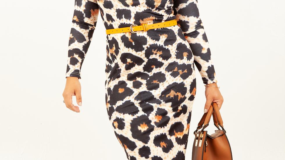 Rikki Leopard Print Dress