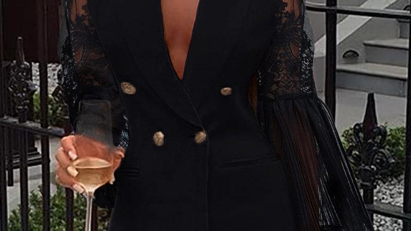 Lace Blazer Dress