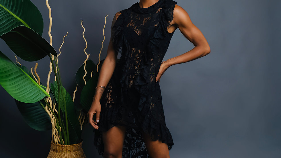 Lace Cape Dress