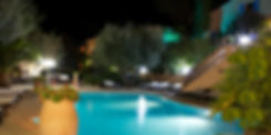 Hotel Grimaud, Pool by night, Athenopolis 3 stars