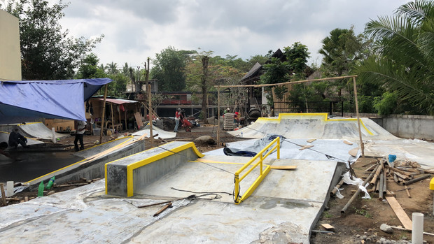 New Ubud Skatepark Progress