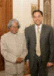 Amber Ahuja with President A.P.J. Abdul Kalam
