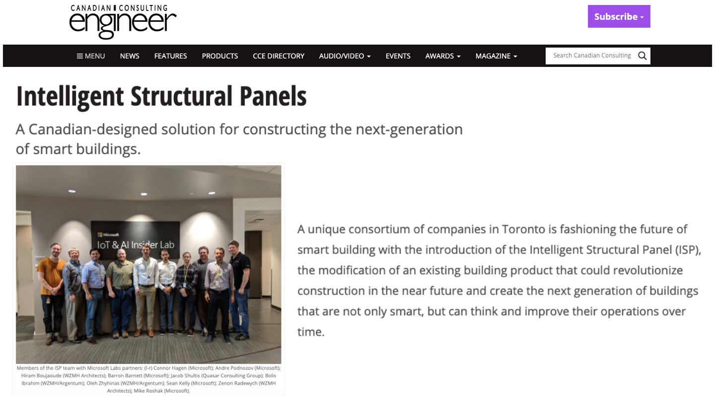 Intelligent Structural Panels
