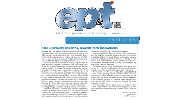 OCE Discovery Unearths, Rewards Tech Innovations