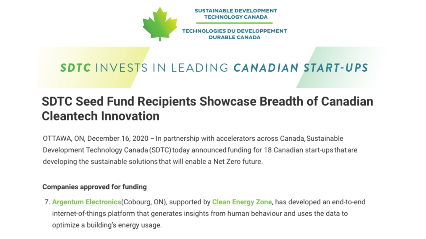 SDTC Seed Fund Recipients Showcase Breadth of Canadian Cleantech Innovation