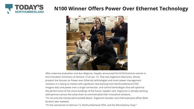 N100 Winner Offers Power Over Ethernet Technology