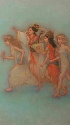 『女神群像戯画』