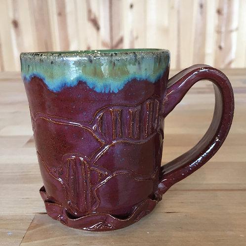 Merlot and Seaweed Stoneware Mug