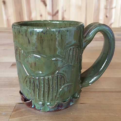 Juicy Green Speckled Stoneware Mug