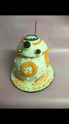 bb8 cake, star wards cake, 3D cake, robot cake, birthday cake, fun birthday cake, themed birthday cake, custiom cake, BB8 cake delivered, Brighton birthday cake
