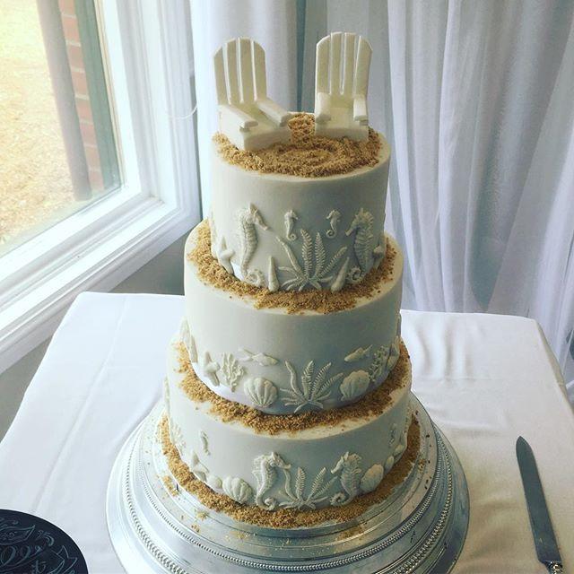 beach wedding cake, seaside wedding cake, beach chairs wedding cake, sand wedding cake, seahorse wedding cake, fish wedding cake, white wedding cake, themed wedding cake, hickstead hotel wedding cake, sea wedding cake, ocean wedding cake, shell wedding cake