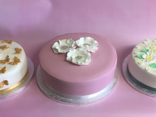 Calleys cakes donate 3 cakes to macmillian coffee morning at reflex hair design in Hassocks
