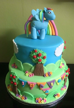 my little pony 2 tier birthday cake