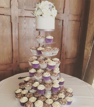 top tier cake and cupcakes at The Ravenswood Sussex