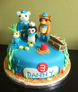 octonauts themed boys birthday cake