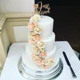 three tier wedding cake at The Birch Hotel Haywards Heath