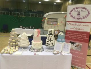 Calleys cakes showing wedding cakes at the triangle Burgess Hill West Sussex