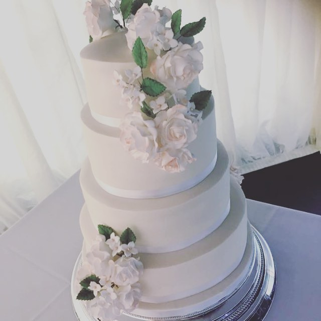 white four tier wedding cake luxury