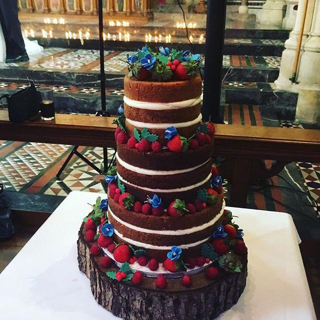 naked wedding cake at All saints Chapel Eastbourne