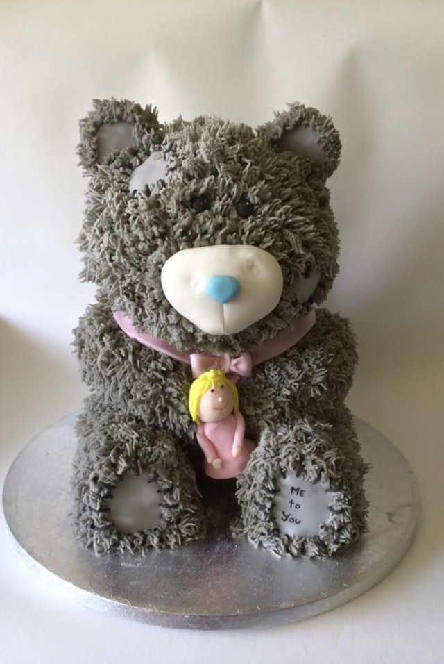 me to you teddy bear birthday cake