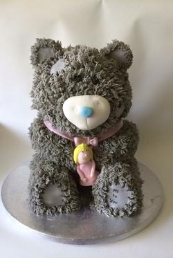 me to you teddy bear birthday cake