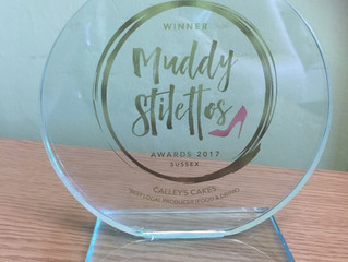 Winner of the muddy stiletto awards for local producer (food and drink)