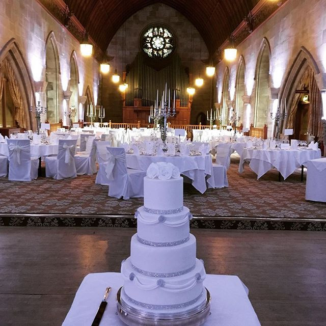 4 tier diamante wedding cake at Ashdown Park