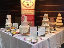 wedding fair cake display