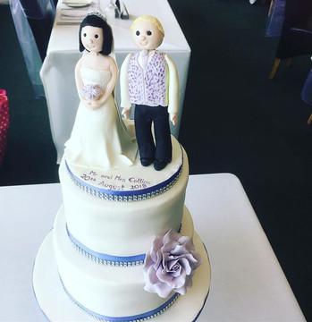 personalised wedding cake topper at Brightom Racecourse