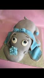 elephant cake, 3D cake, craved cake, custom cake, blue elephant cake, birthday cake, childs birthday cake, kids birthday cake