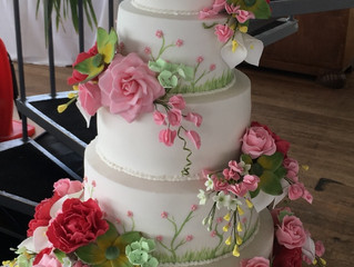 Vintage wedding cake at Worthing Pier