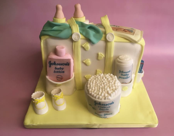 baby shower baby changing bag cake