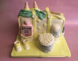 baby shower baby changing bag cake