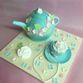 teapot cake, teapot and saucer cake cup and saucer cake, mothers day cake, charity cake, raffle cake, pretty cake, vintage cake, floral cake, teapot, edible teapot,